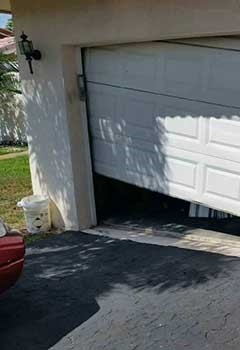 Garage Door Off Track In Macclenny